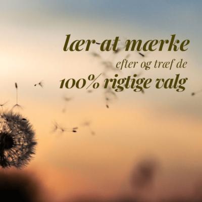 LÆR AT MÆRKE EFTER OG TRÆF DE 100% RIGTIGE VALG